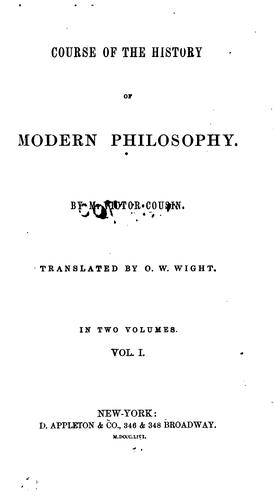 Download Course of the history of modern philosophy.