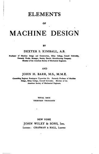 Download Elements of machine design