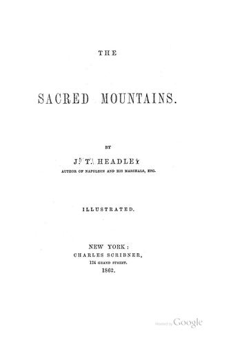 Download The sacred mountains.