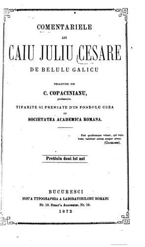 Comentariele lui Caiu Juliu Cesare de belulu galicu.