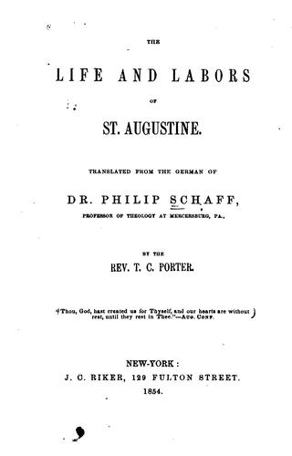 Download The life and labors of St. Augustine.