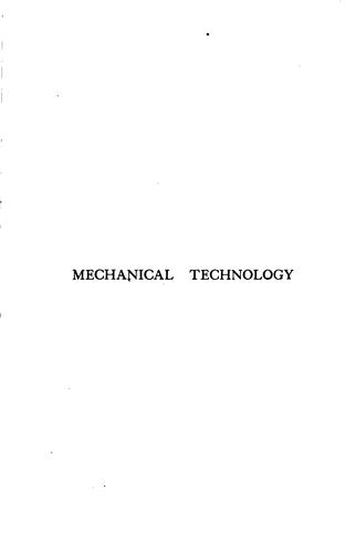 Download Mechanical technology