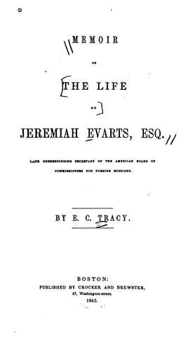 Download Memoir of the life of Jeremiah Evarts