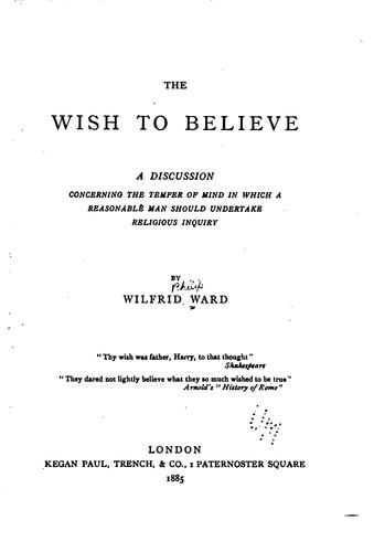 Download The wish to believe