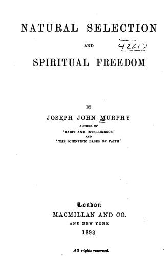 Download Natural selection and spiritual freedom