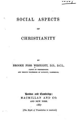 Download Social aspects of Christianity