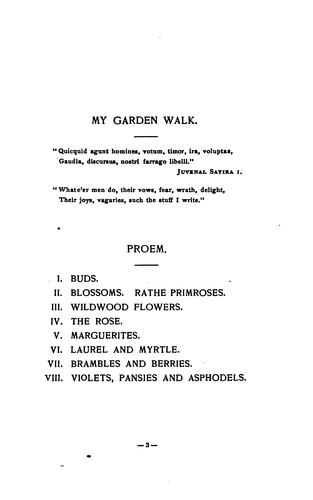 My garden walk.