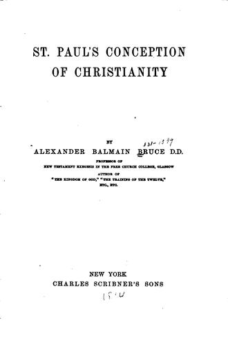Download St. Paul's conception of Christianity
