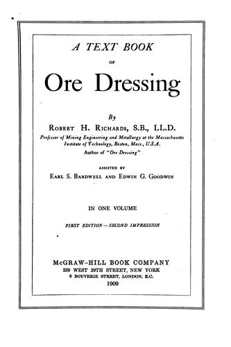 Textbook of ore dressing