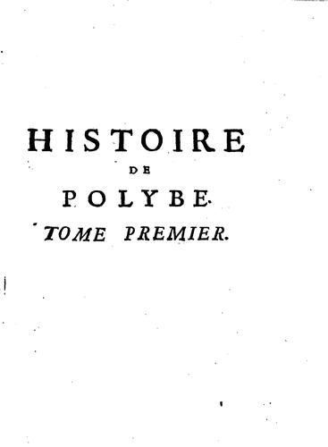 Download Histoire de Polybe