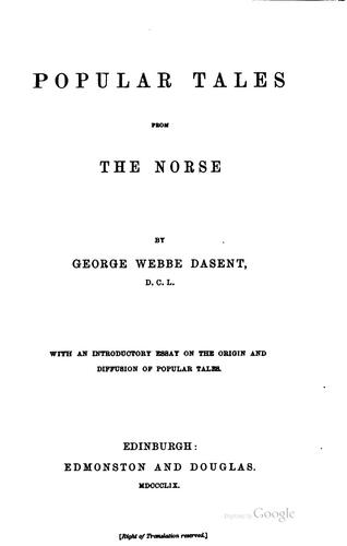 Download Popular tales from the Norse