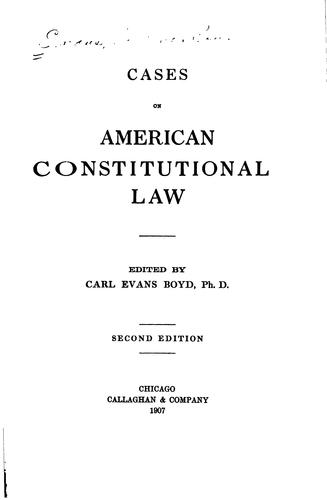 Download Cases on American constitutional law.