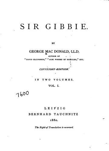 Sir Gibbie.