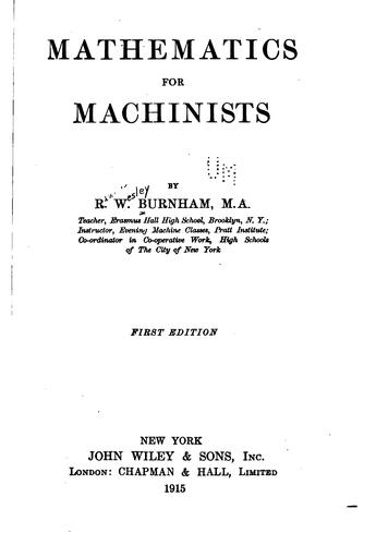Mathematics for machinists