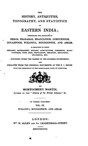 The history, antiquities, topography, and statistics of eastern India …