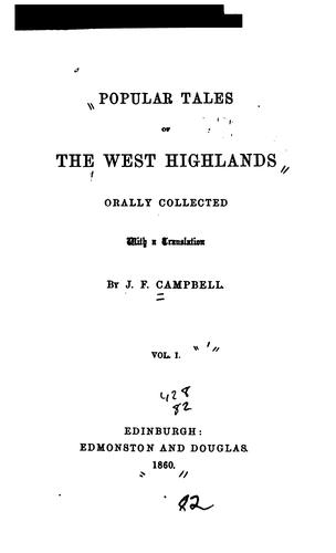 Download Popular tales of the west Highlands.