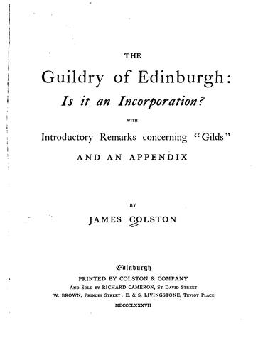 The guildry of Edinburgh