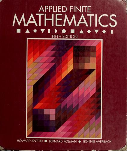 Applied finite mathematics by Howard Anton