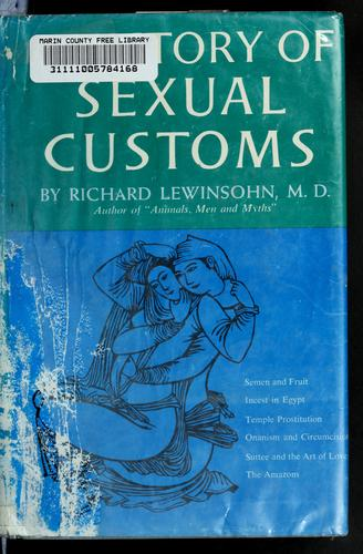 Download A history of sexual customs.