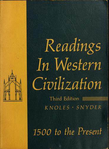 Download Readings in Western civilization
