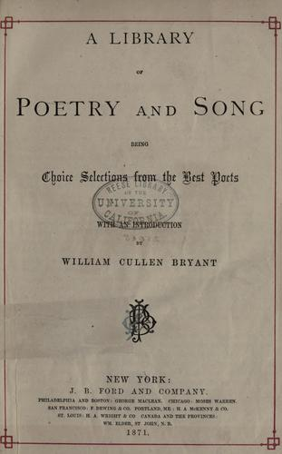 A library of poetry and song