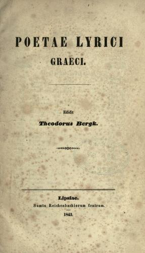 Poetae lyrici graeci.