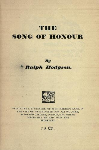 The song of honour