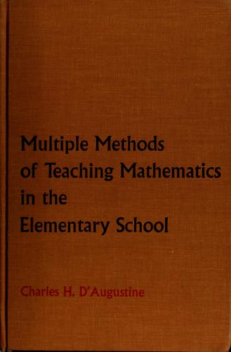 Multiple methods of teaching mathematics in the elementary school