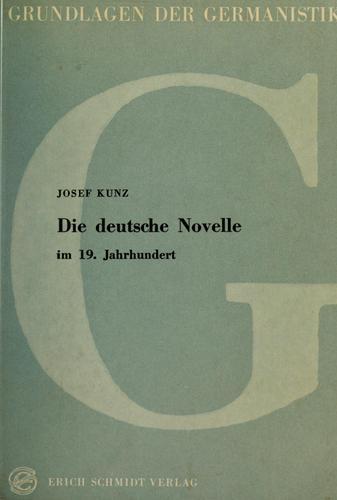 Download Die deutsche Novelle im 19. Jahrhundert.
