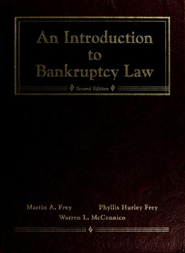 Download An introduction to bankruptcy law