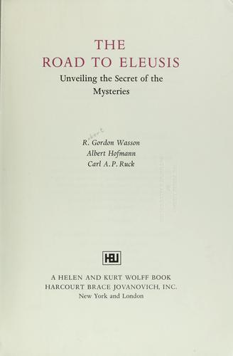 The road to Eleusis