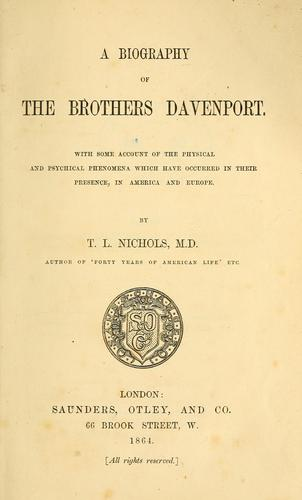 Download A biography of the brothers Davenport