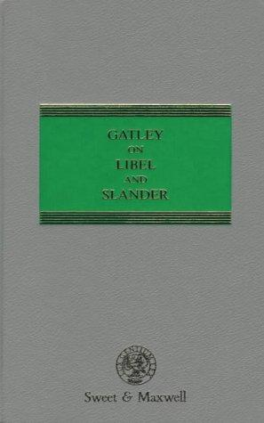 Download Gatley on libel and slander.