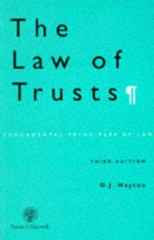 Download The Law of Trusts (Fundamental Principles of Law)