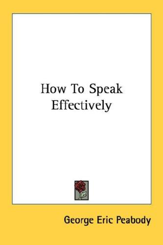 Download How To Speak Effectively