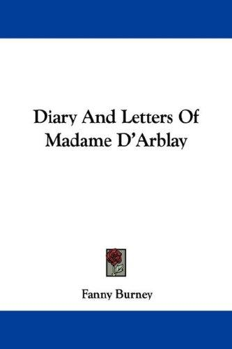 Download Diary And Letters Of Madame D'Arblay