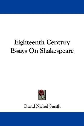 Download Eighteenth Century Essays On Shakespeare