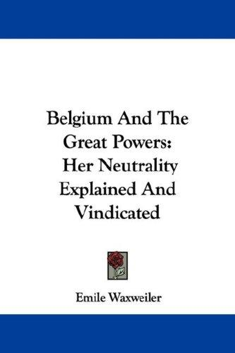 Belgium And The Great Powers