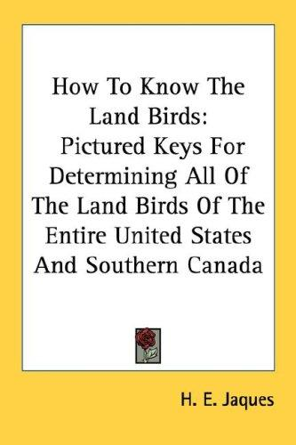 Download How To Know The Land Birds