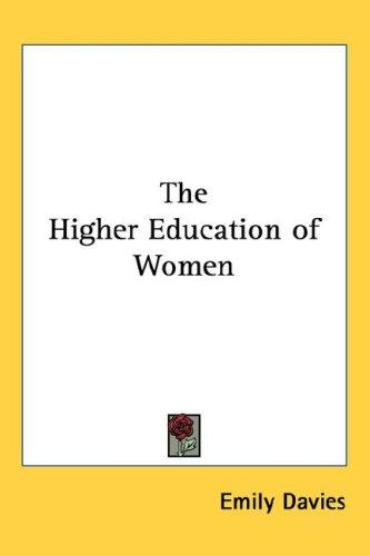Download The Higher Education of Women