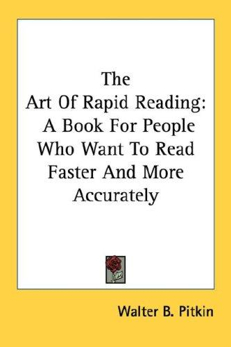 The Art Of Rapid Reading