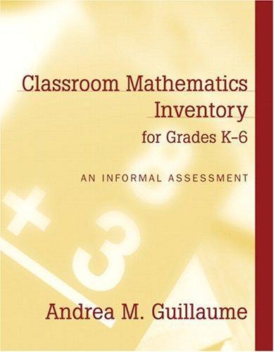 Download Classroom Mathematics Inventory for Grades K-6