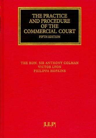 Download The practice and procedure of the commercial court