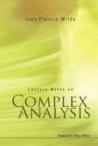 Download Lecture Notes on Complex Analysis