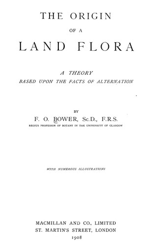 The origin of a land flora