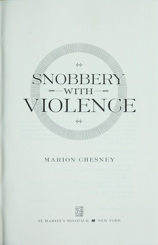 Download Snobbery with violence