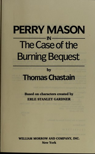 Download Perry Mason in the case of the burning bequest