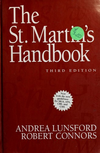 Download The St. Martin's handbook