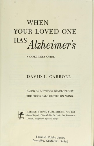 Download When Your Loved One Has Alzheimer's