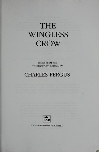 Download The wingless crow